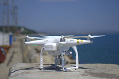Drone at breakwater Stock Image