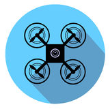 Drone with Camera. On blue background  eps 10 Stock Photo
