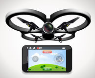 Drone with camera Royalty Free Stock Images