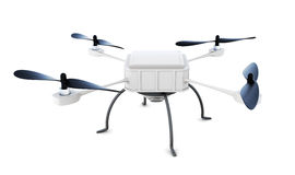 Drone with camera isolated on white background. 3d rendering Royalty Free Stock Image