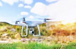 Drone with camera for remote control fpv Stock Images