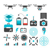 Drone camera   silhouette icon Royalty Free Stock Images