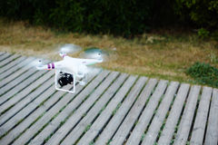 Drone with the camera Royalty Free Stock Photo