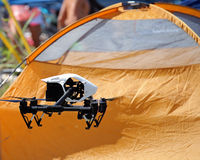 Drone Campground Royalty Free Stock Photos