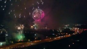 Drone Captures Fireworks Over The Highway