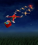 Drone Christmas Sled Royalty Free Stock Image