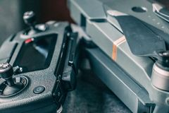 Drone and controller stock image