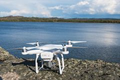 The drone copter with digital camera stock photos