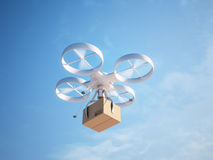 Drone delivering a package Stock Photography