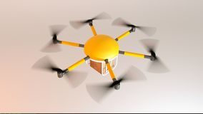 Drone delivery concept -top view Stock Images