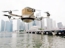 Drone delivery Royalty Free Stock Images