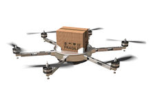 Drone delivery Stock Image