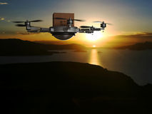 Drone delivery Stock Photography
