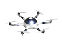 Drone delivery royalty free illustration