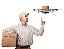 Drone delivery Stock Photos