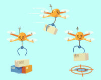 Drone delivery Royalty Free Stock Image