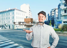 Drone delivery Royalty Free Stock Photo
