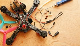 Drone - Electronic speed control ESC replacing after crash Royalty Free Stock Image
