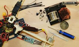 Drone - Electronic speed control ESC replacing after crash Stock Photography