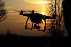 Drone flies and removes fields that dotted the landscape of agriculture