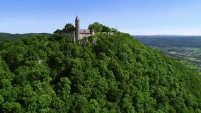 Drone flight - Castle Hohenrechberg near Goeppingen in Germany stock video