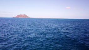 drone flight over the sea stock video