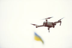 Drone in flight Royalty Free Stock Photography