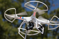 Drone in flight Stock Photos