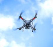 Drone in Flight Stock Image