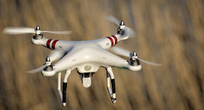 Drone in flight stock photos