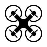 Drone fly icon Stock Photography