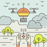 Drone Flyer Concept Stock Photo
