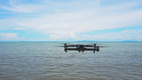 Drone flying against sea view stock footage