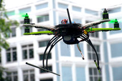 Drone is flying Stock Photo