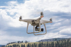 Drone Flying In Nature stock image