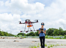 Drone flying at outdoor Stock Photography