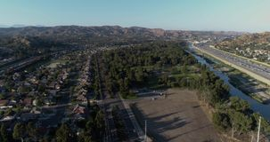 Drone flying over orange county 4k 24fps. Drone flying over orange county stock video