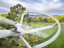 Drone flying over park Royalty Free Stock Images
