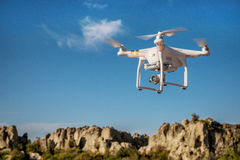 Drone flying over rocks in Colorado Royalty Free Stock Photography