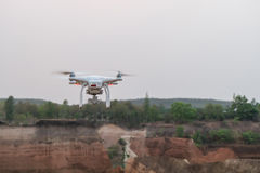 Drone flying over Thailand Grand Canyon. Drone with camera flying over Thailand Grand Canyon Royalty Free Stock Photo