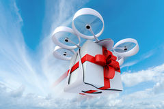 Drone flying present in the sky Stock Photos