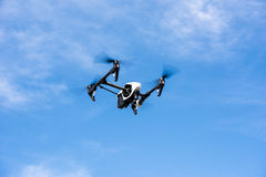 Drone in blue sky Stock Photos