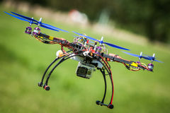 Drone flying Stock Photo