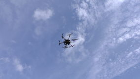 Drone flying in the sky stock video