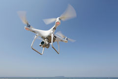 Drone flying in the sky Royalty Free Stock Photo