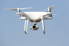 Drone flying in the sky Stock Photography