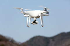 Drone flying in the sky Stock Image