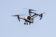 Drone flying in the sky Royalty Free Stock Images