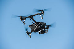 Drone flying in the sky Royalty Free Stock Photos