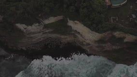 Gili island, Indonesia. Drone footage of a calm dawn on abandoned  beach amazing  Gili island, Indonesia stock video footage